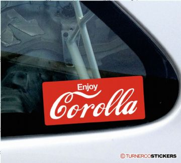 Toyota Corolla funny logo style sticker / decal